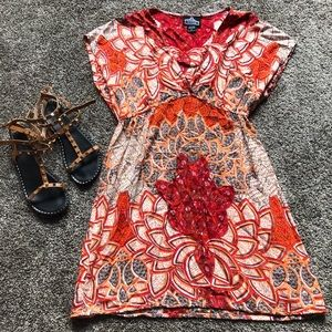Fall Patterned Angie Brand Tunic
